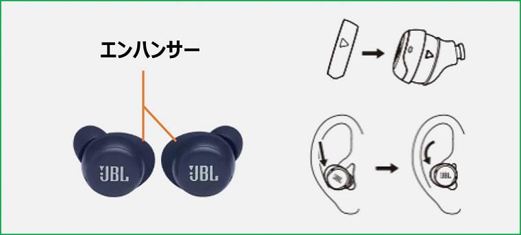 JBL Live Free NC+ TWS エンハンサー
